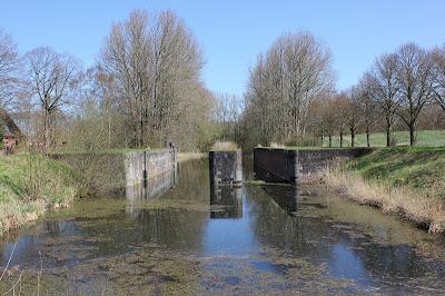 Schleuse am Eiderkanal in der Nähe von Kiel
