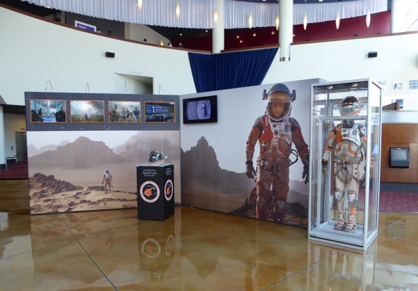 The Martian astronaut spacesuit exhibit