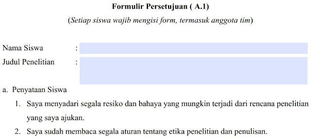 Formulir LKIR A1 tahun 2018