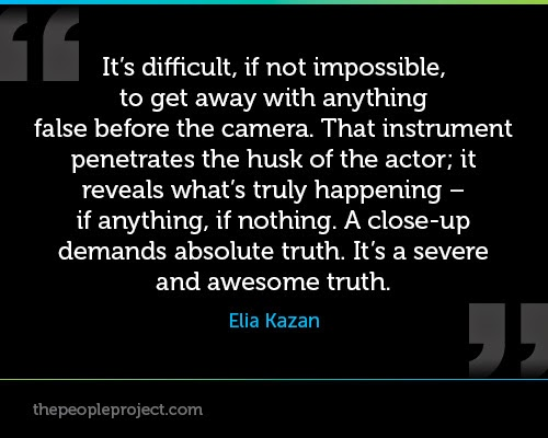 Elia Kazan on what camera does to you