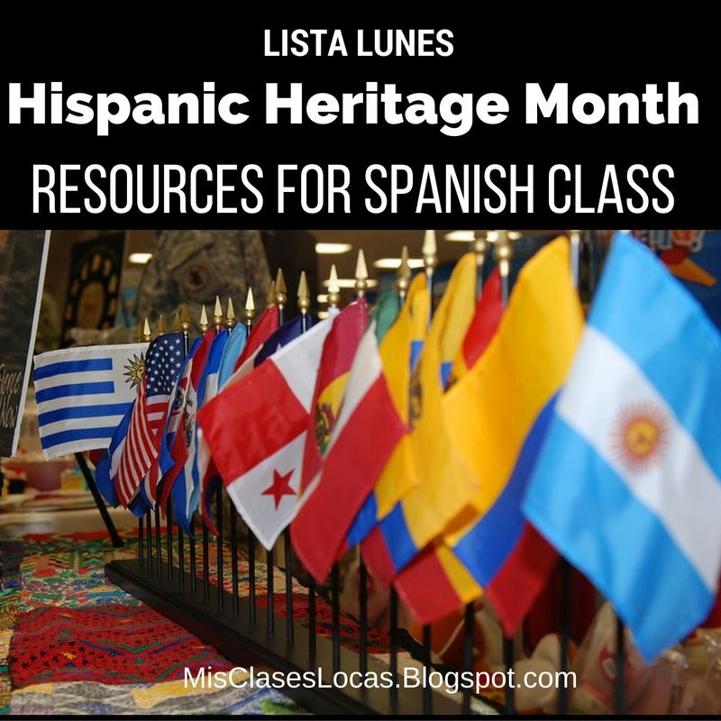 Lista lunes: Hispanic Heritage Month - Mis Clases Locas