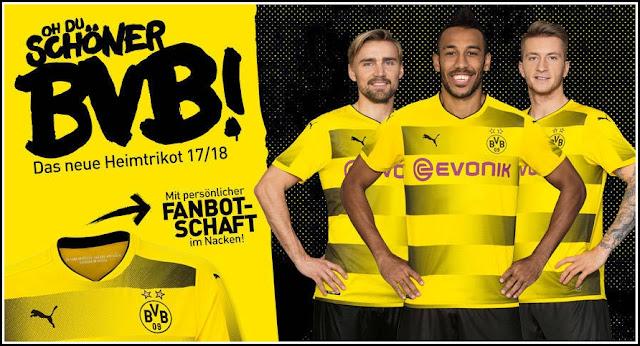 BVB Borussia Dortmund 17-18 PUMA Home Jersey Grade Ori