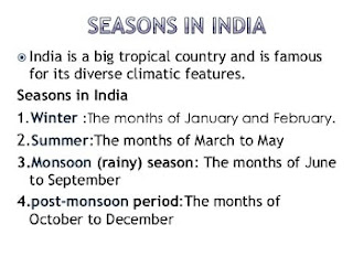 Season and Climate of India