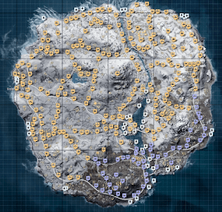 PUBG:Vikendi map loot locations | snow map (vikendi) vehicles spot and drop spot