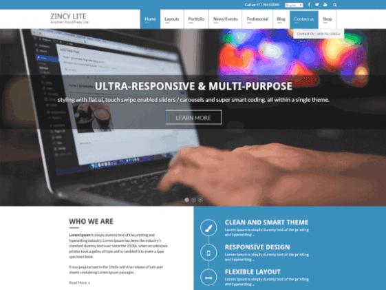 Zincy Lite Responsive Wordpress Themes [Free]