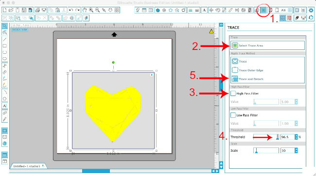 Silhouette Studio, Silhouette tutorial, Silhouette Cameo, print and cut, designing, trace tool