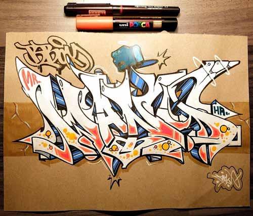20+ Download Gambar Tulisan Graffiti Di Kertas - Gambar ...