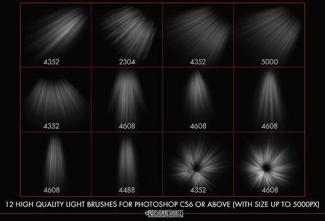12 High-res Light Brushes