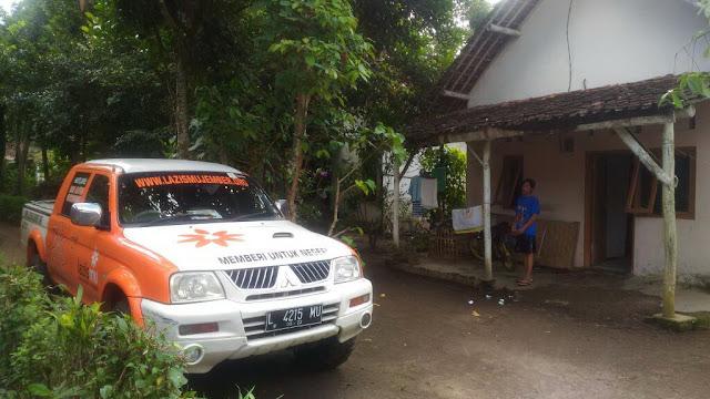 Rumah mustahiq yang membutuhkan bantuan donasi