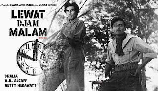 film kuno, film klasik, film jadul, film jaman dulu, film 60'an, Lewat Djam Malam, film indonesia