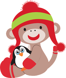 Animals For Christmas Clipart