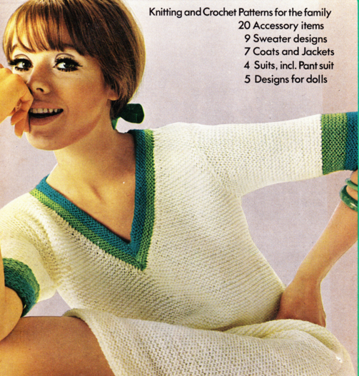 The Vintage Pattern Files Free 1960's Knitting Pattern Garter Stitch Dress