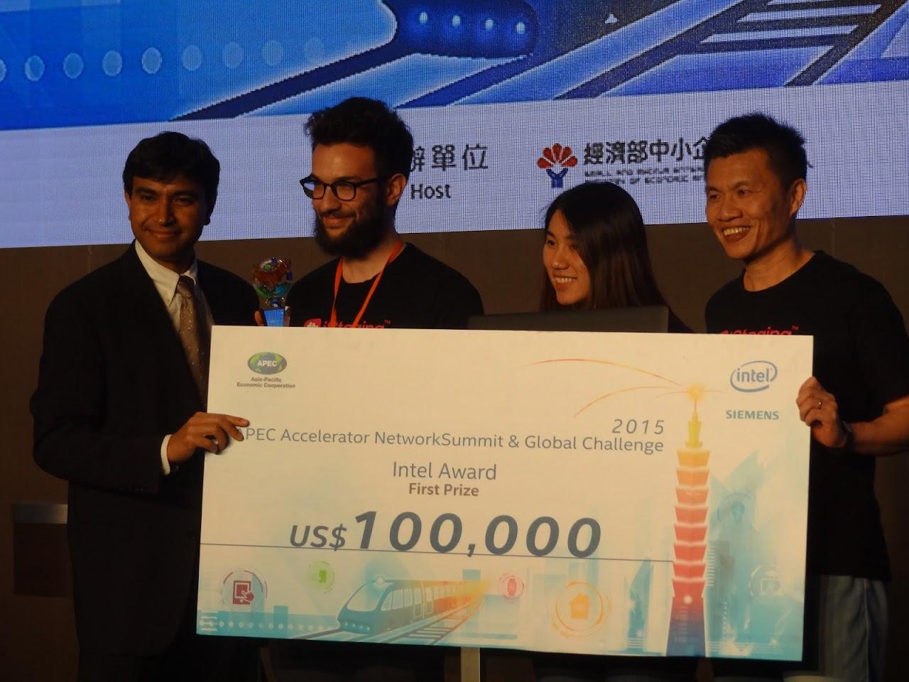 APEC創業挑戰賽,台灣團隊宅妝拿下英特爾第一獎