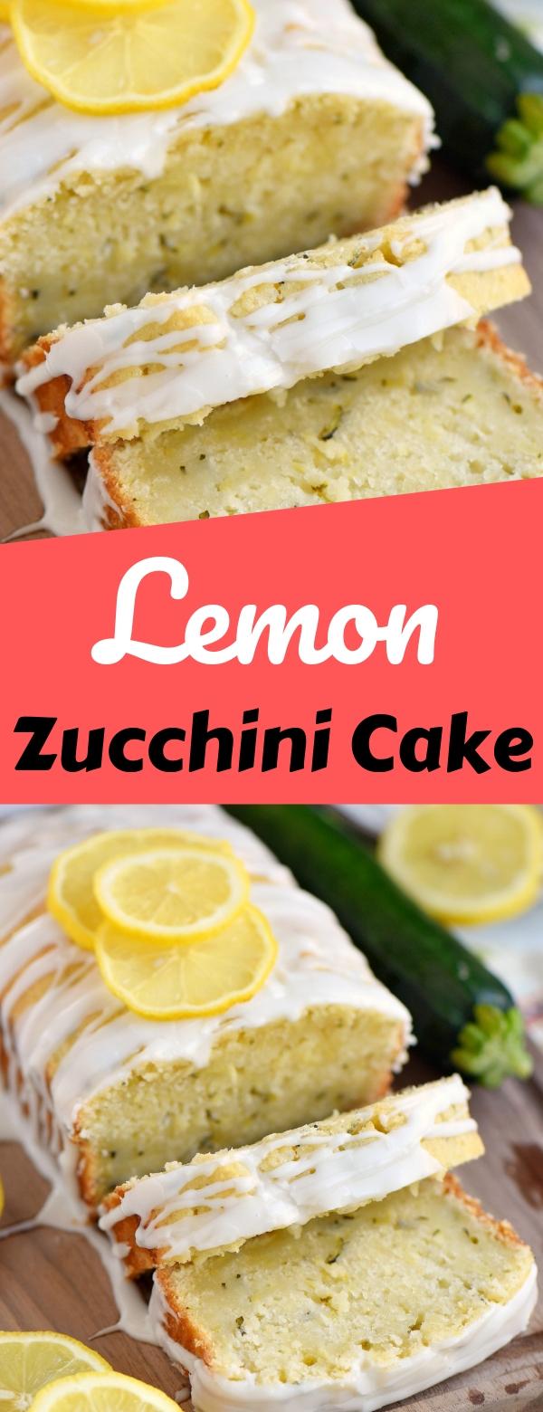 Lemon Zucchini Cake #lemon #zucchini