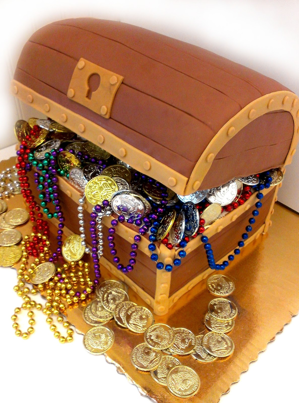Treasure Chest Template Cake Ideas And Designs