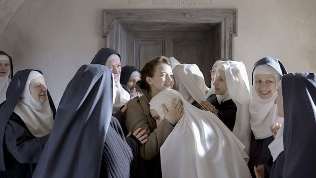 One of the movie's emotionally resonating and beautifully framed moment. Happens after Mathilde smartly saves the nuns from impending disaster