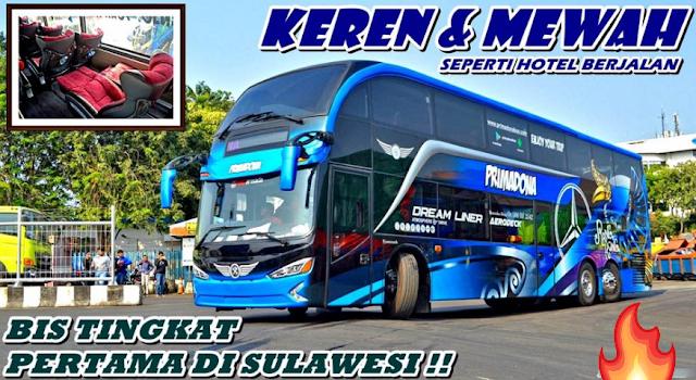 Bis Tingkat Pertama di Sulawesi yang diberi nama Aerodeck
