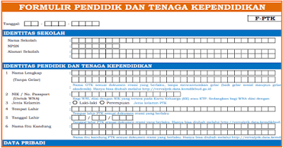 Formulir Peserta Didik dan GTK/ PTK Dapodik 2019 PDF