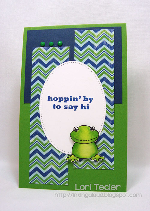 Hoppin' by to Say Hi-designed by Lori Tecler/Inking Aloud-stamps from Clear and Simple Stamps