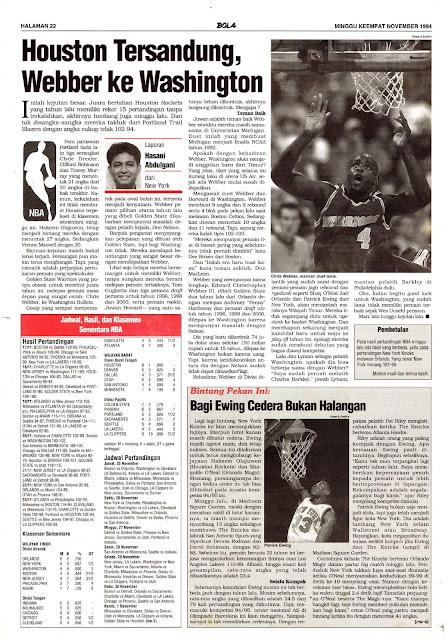 BASKET BALL NBA WEBBER KE WASHINGTON