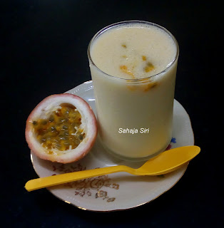 Passion fruit flavoured sweet Yogurt