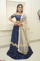Niveda Thomas in Lovely Blue Cold Shoulder Ghagra Choli Transparent Chunni ~  Exclusive Celebrities Galleries 052.JPG