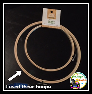 Craft hoops needed to make a crayon clock