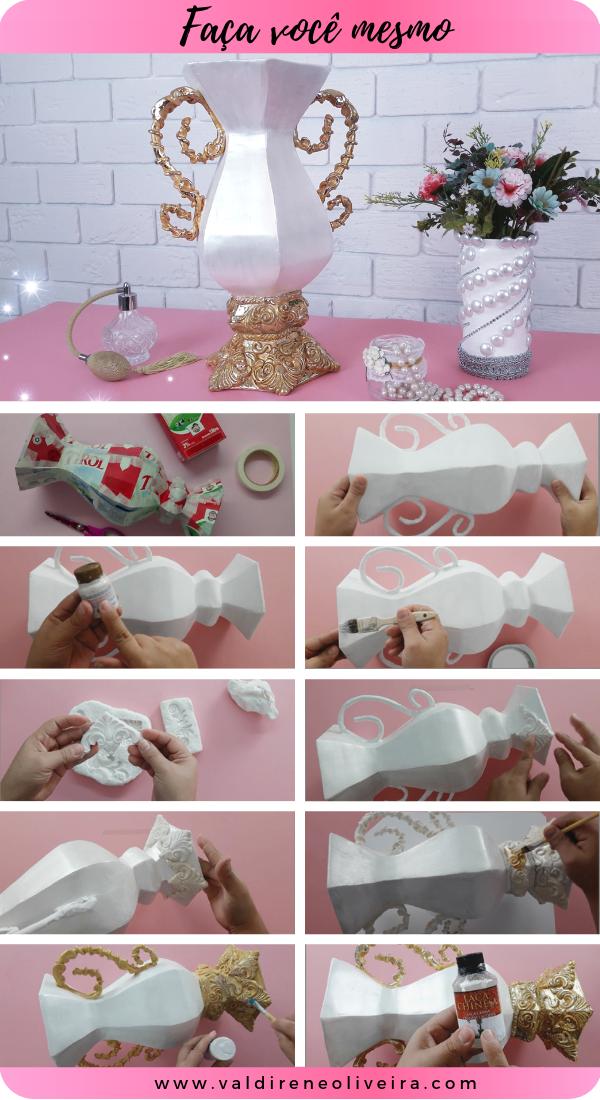 faça você mesmo decoração em vaso para casamento