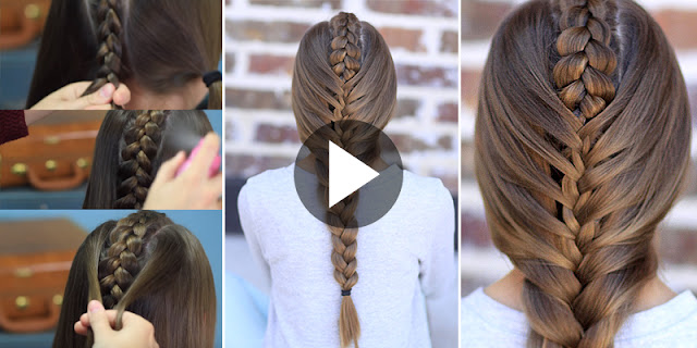 Learn - How To Create Tuxedo Braid Simple Hairstyle, See Tutorial