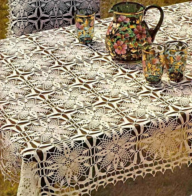 crochet Tablecloth Sq4