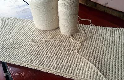 szydełkowy ścieg na dywaniki