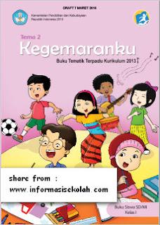 Buku Siswa Kelas 1 SD Tema II Kegemaranku Kurikulum 2013 Revisi Terbaru Tahun 2016