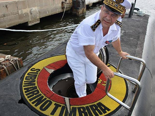 Jefe de Estado Mayor de la Marina francesa visita a la Fuerza Submarinos Brasilera