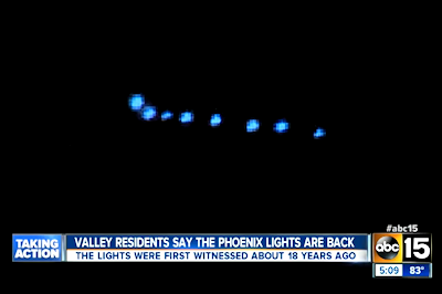 UFO Formation Captured on Film Resembles Infamous Phoenix Lights