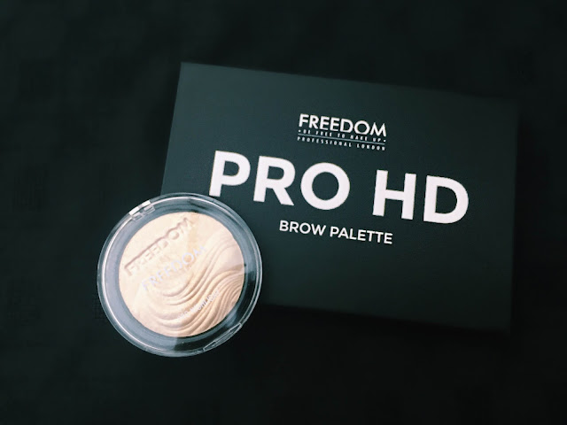 Freedom Pro HD Brow Palette and highlighter