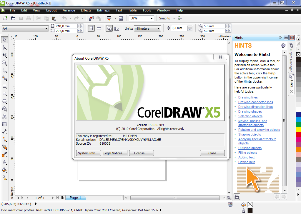 corel draw x5 software free download with keygen