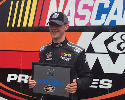 #KNEast - @AustinCindric broke the series qualifying record en route to his 2nd series pole. #BullyHill100 #NASCAR