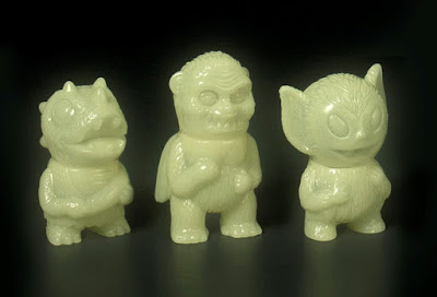Five Points Festival 2017 Exclusive Glow in the Dark Micro Wing Kong, Bat Boy & Caveman Dino Vinyl Figures by Super7