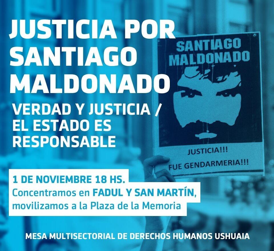 Convocatoria: el miércoles marcharán para pedir justicia por Santiago Maldonado