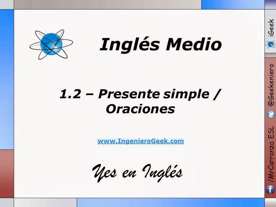 1 2 presente simple oraciones afirmativas y negativas for Expresiones cortas