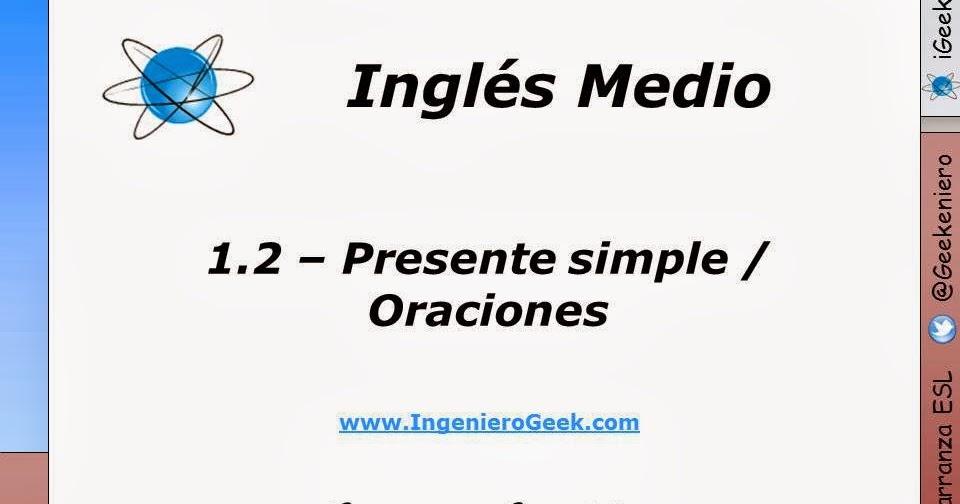 Igeek 1 2 Presente Simple Oraciones Afirmativas Y Negativas