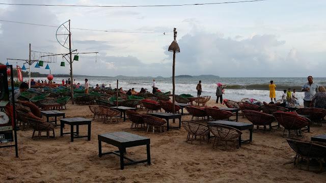 Chiringuitos playeros en Sihanoukville