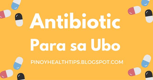 antibiotic para sa ubo