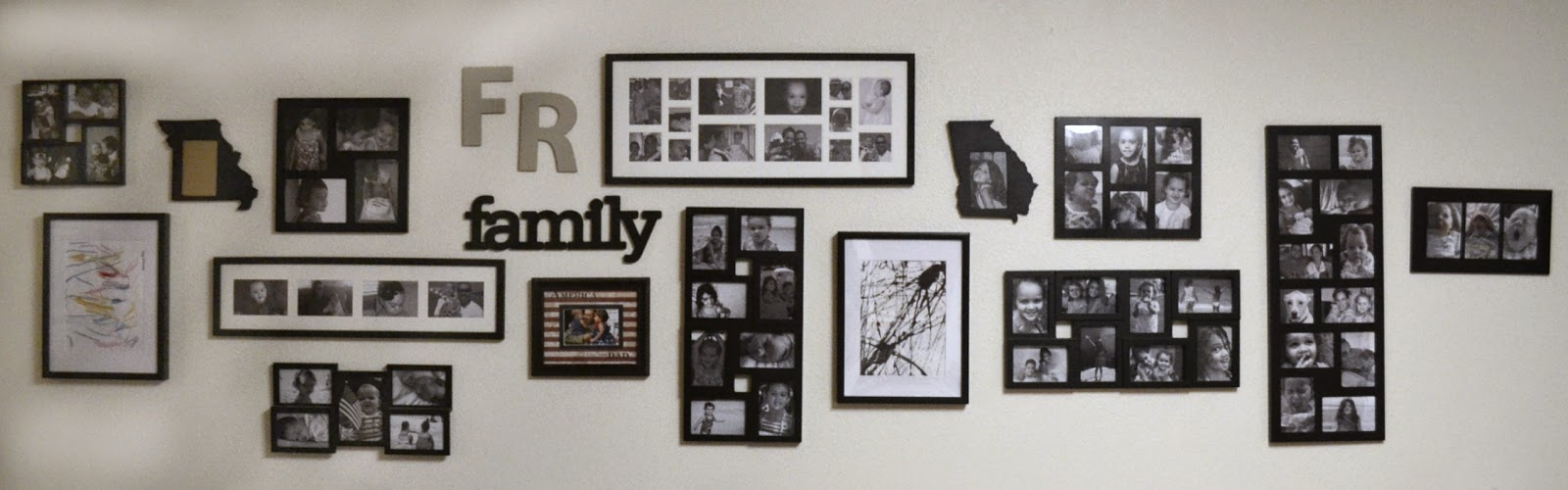 Munchkins and the Military: The Family Gallery Wall