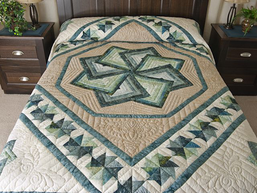 Quilting Land Autumn Star Spin Quilt