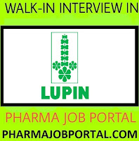 LUPIN LIMITED Walk In Interview for Multiple Positions In Diploma, B.Sc, M.Sc, B.Pharm (30 Openings) at 14 October
