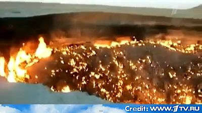 Russian Television Shows Flaming Hole Where Meteorite Fragment Came To Earth