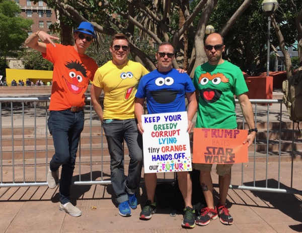 LA Tax March Sesame Street protesters