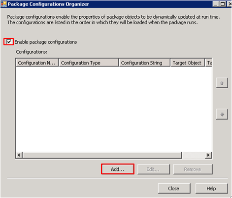 Business Intelligence: SSIS Package Configuration - XML File