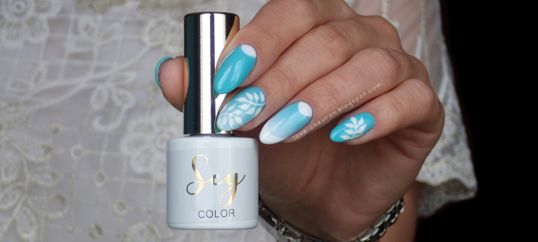 Cosmetics Zone |  Sey |  s206 Fresh Mint |  gel art 003 Intense White |  Ocean Views | ombre na paznokciach | liście na paznokciach | french manicure | miętowe paznokcie | mint nails | summer nails |